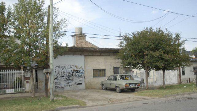 Escenario. La casa donde asesinaron hace nueve años a Isaías Retamar.