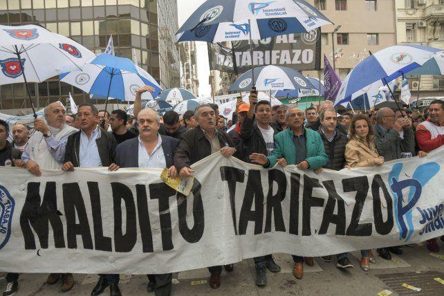 Unidos en el reclamo. Los sindicalistas consideran al ajuste una declaración de confrontación del gobierno.