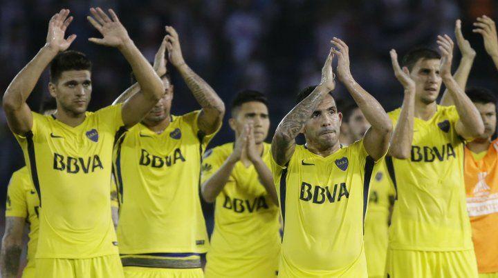 Clima poco festivo. El plantel de Boca puede celebrar mañana pero la preocupación pasa por quedar afuera de la Libertadores.