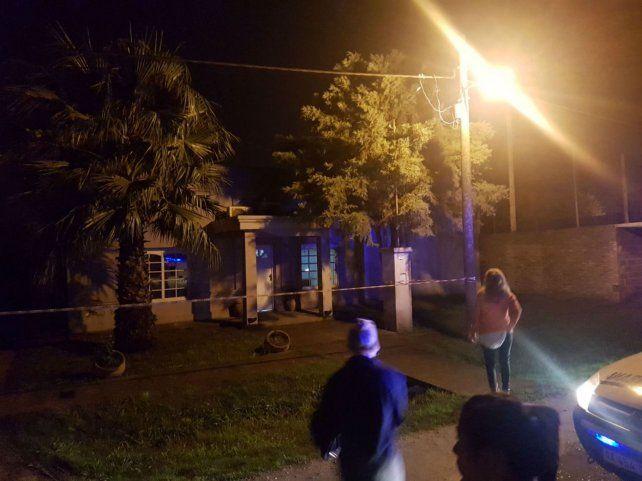 El domicilio. Los disparos fueron hechos sobre la vivienda de Mitre al 100