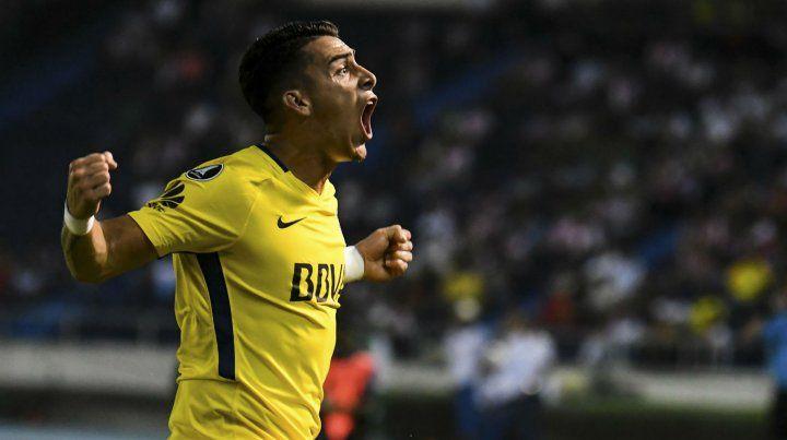 Una fija en ataque. El delantero Cristian Pavón es la carta de gol xeneize.