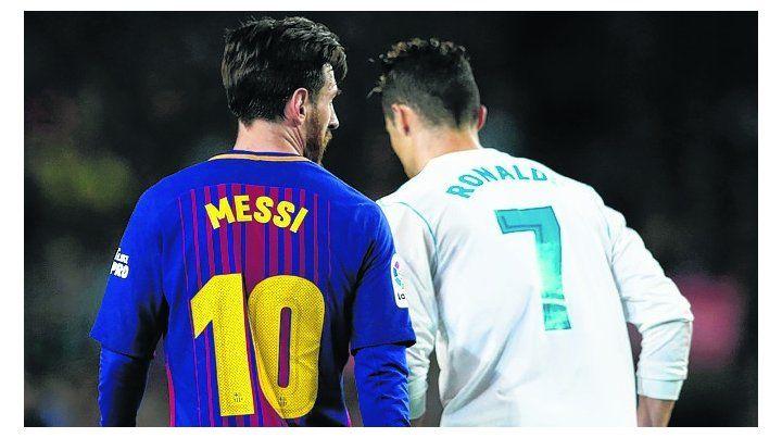 Destacados. Messi y Cristiano Ronaldo libraron ayer otro gran duelo en una cancha.