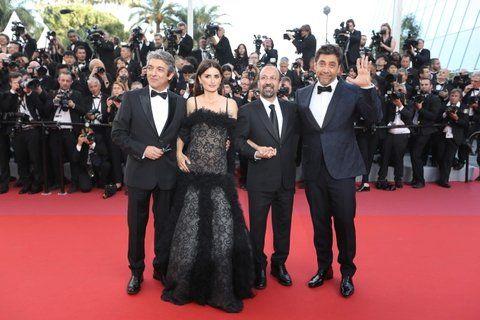 alfombra roja. Darín llegó a Cannes junto a Cruz