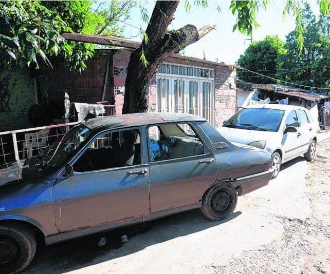 barrio humilde. .La cuadra donde ocurrió el crimen de Carranza en 2017
