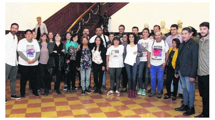juntos. Ediles e integrantes de la Multisectorial en el Concejo.