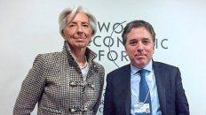 Lagarde y Dujovne en una foto del Foro Económico Mundial deDavos,en enero de 2017.