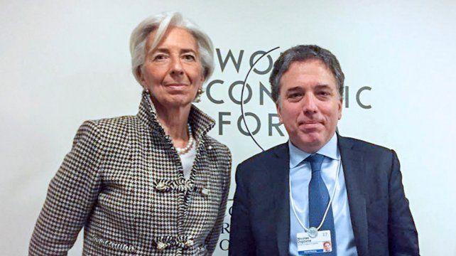 Lagarde y Dujovne en una foto del Foro Económico Mundial deDavos