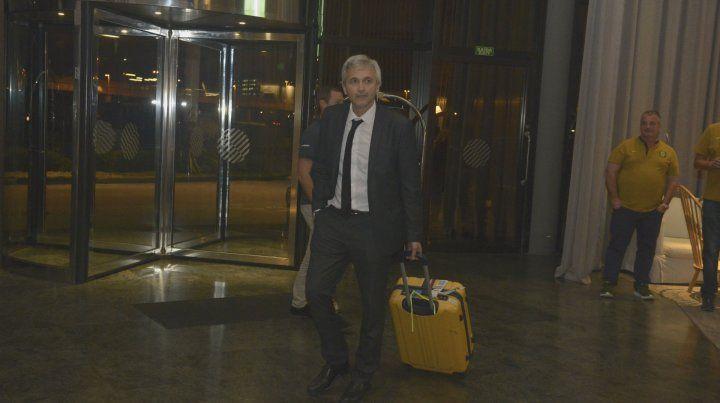 El dirigente canalla confía en que Central hará una buena actuación en San Pablo.
