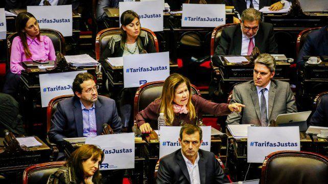 Causa común. La oposición al tarifazo amalgamó a los distintos bloques opositores en la Cámara baja.