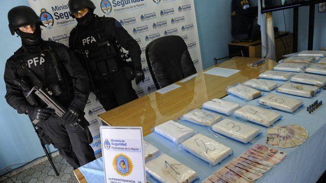 Ladrillos. En 2014 se incautaron 20 kilos de cocaína que venían a Rosario.