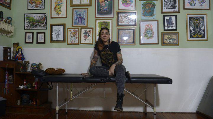 Comprometida. La artista dice que su trabajo le genera presión porque tiene que salir bien.
