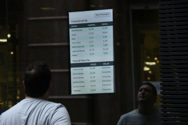 Volátil. El salto del tipo de cambio alteró la economía.