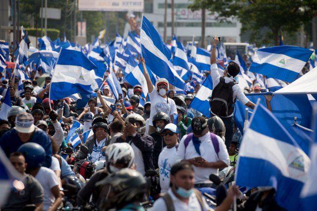 Clamor. Estudiantes universitarios piden la renuncia del gobierno sandinista.