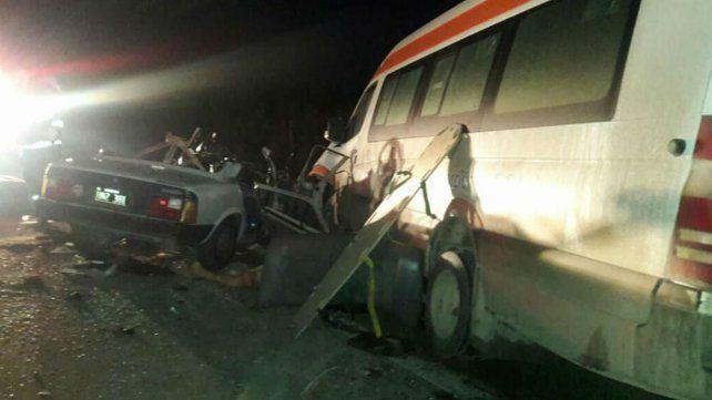 Tres muertos en un choque frontal en una colectora de la autopista a Santa Fe cerca de Timbúes