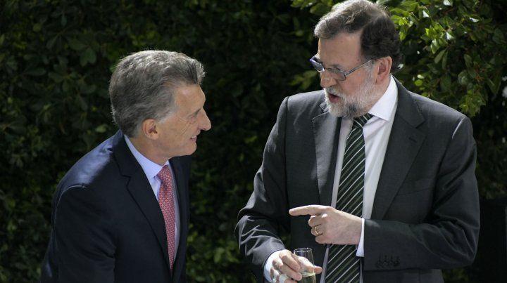 Rajoy y Macri