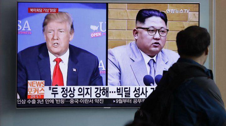 Cara a Cara. El líder norcoreano y el presidente de EEUU se reunirán el 12 de junio en Singapur.