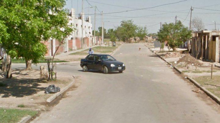 La cuadra donde fueron detenidos las tres personas que protagonizaron desórdenes en la vía pública.