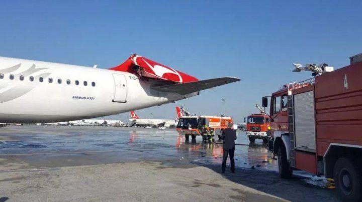 La aeronave de Turkish Airlines resultó la más dañada de ambas.