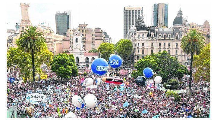 en lucha. El jueves los docentes universitarios marcharán a plaza de Mayo.