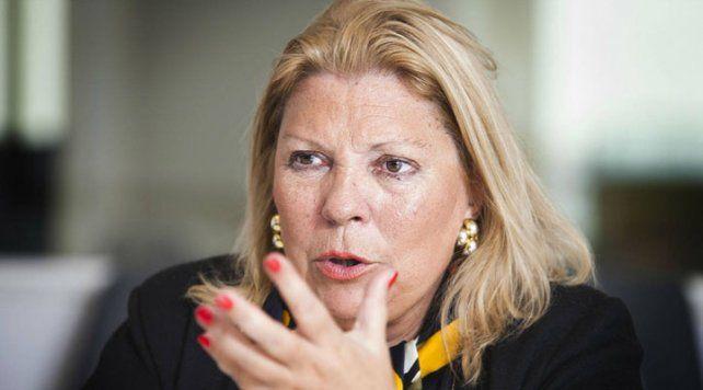 Vuelven a dar un golpe cambiario para destituir a un presidente, advirtió Carrió