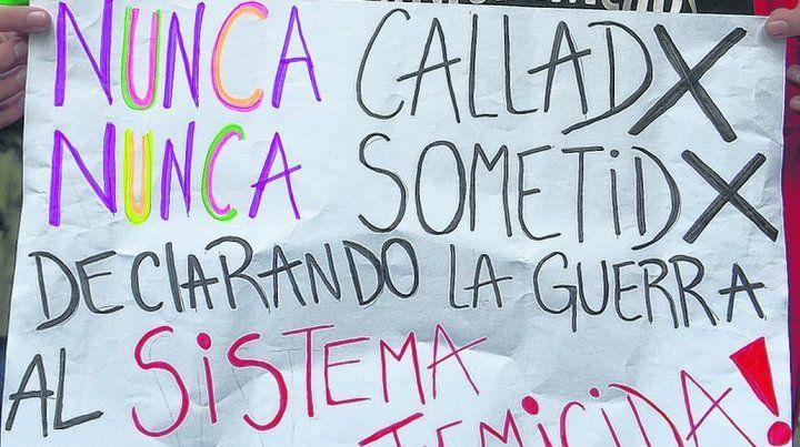 reclamo omnipresente. Se multiplican las marchas en las que se exige un freno a la violencia de género.