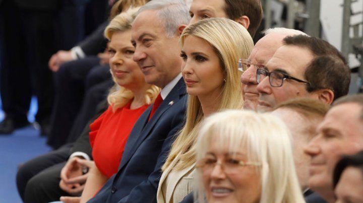 Felices. Netanyahu e Ivanka Trump durante la inauguración de la nueva embajada.