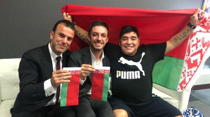 Sorpresa en Bielorrusia. Maradona asumió como presidente de un club de ese país.