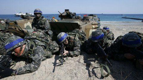 Tensión. EEUU y Corea del Sur realizan periódicamente ejercicios militares en la frontera con el Norte.