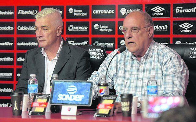 Juntos a la par. Omar De Felippe y Eduardo Bermúdez concuerdan con que se necesitan refuerzos para la próxima temporada.