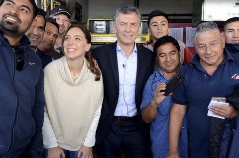 juntos. Macri se mostró ayer con la gobernadora Vidal