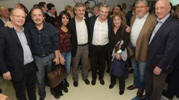 pluralidad. Dirigentes opositores en el acto de ayer en Buenos Aires.