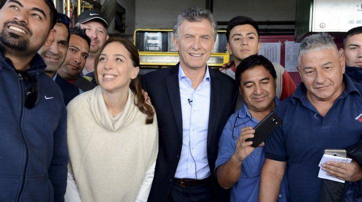 Macri se mostró ayer con la gobernadora Vidal
