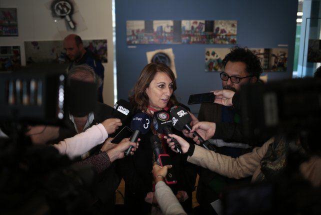 La intendenta Mónica Fein aseguró que habrá vigilancia día y noche en la Terminal de Omnibus.
