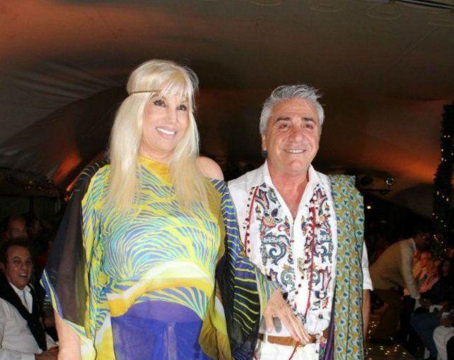 Susana Giménez junto a su entrañable amigo y diseñador favorito.