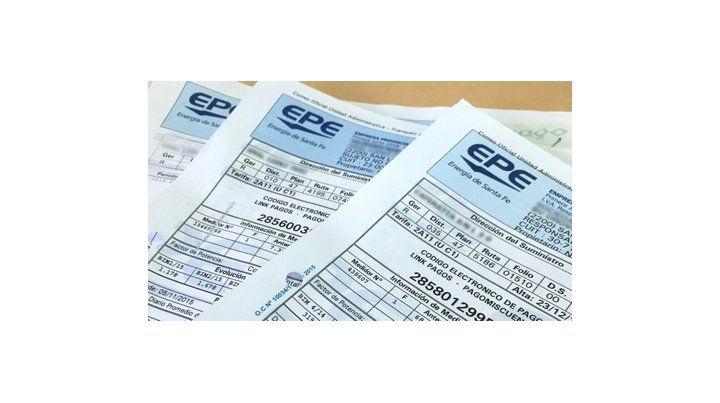 por las nubes. Las facturas del servicio eléctrico de la provincia.