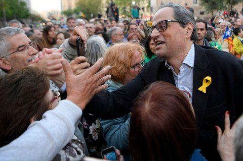 Posesión. Torra tomará las riendas de la Generalitat en un clima de tensión.