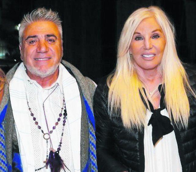 desfile. Susana Giménez y Di Doménico en un evento porteño.