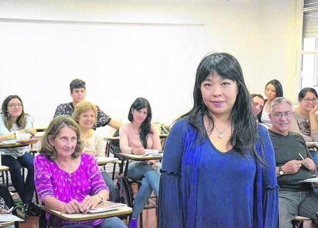 La profesora Shainna