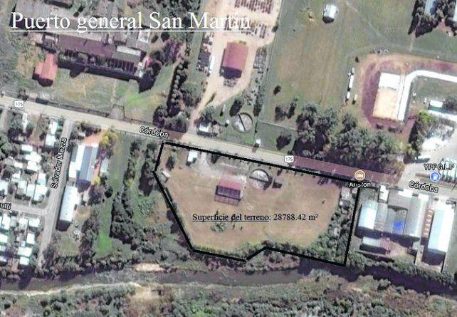 quién da más. El predio de Puerto San Martín que se subasta.