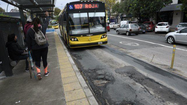 El Metrobus Norte fue reparado hace poco meses y ya presenta deterioros .