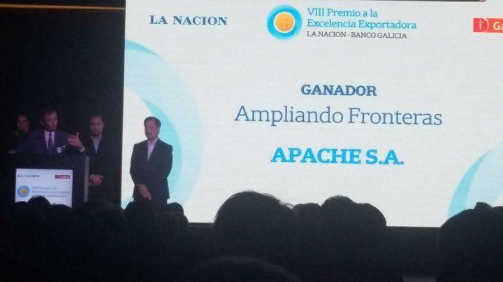 Aval. Carlos Castellani recibió al premio en la categoría Ampliando fronteras.