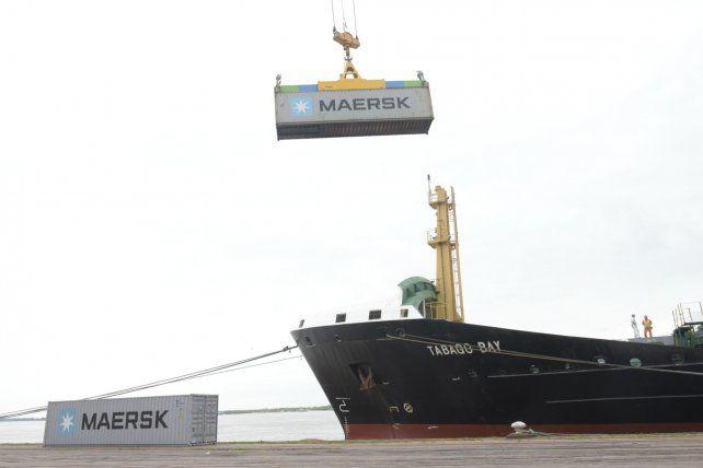 La actividad del puerto de Rosario.