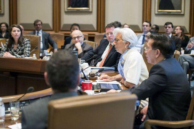 Directora. Lagarde elogió las medidas económicas del macrismo.
