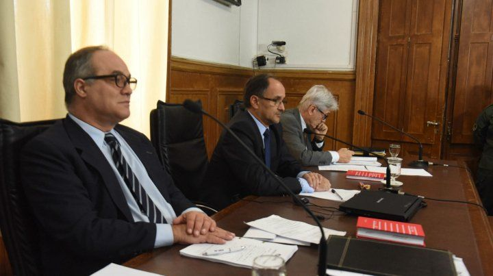 Los jueces que llevan adelante el juicio a David Delfín Zacarías.