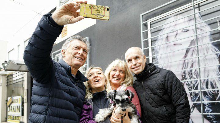 Macri y el jefe de Gobierno porteño