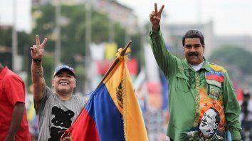 Maradona estuvo en los actos de Maduro para estos comicios desconocidos por varios países.