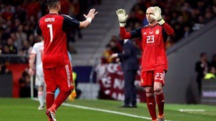 Poco rodaje. Romero y Caballero ayer no fueron titulares en la final de la copa inglesa.