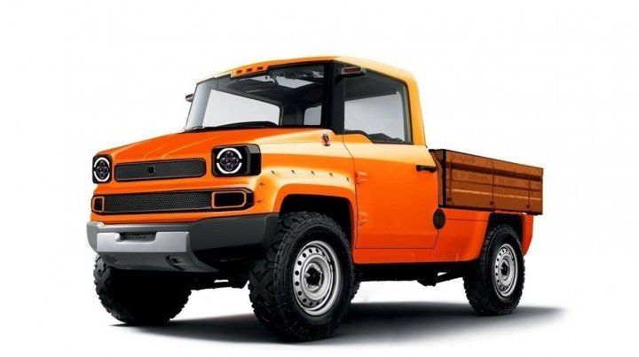 Un chiche. Carlos Ptaschne planea fabricar la camioneta con motor eléctrico japonés en una planta del cordón industrial.