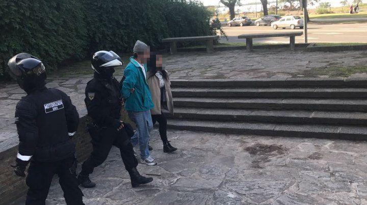 El hombre detenido hoy en parque Urquiza.