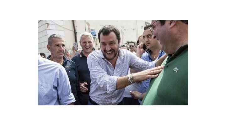 misterioso. Matteo Salvini ayer en Roma. El programa de gobierno implica desconocer los tratados europeos.